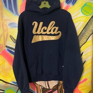 Vintage UCLA Sewn Patch Script Spellout Hoodie M